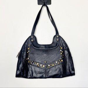 Patricia Nash Studded Ergo Leather Shoulder Bag
